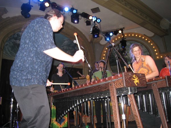 Elgin and Aisha in Boka Marimba